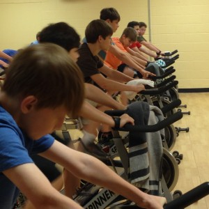 Cherokee Creek Boys School student attend spin class