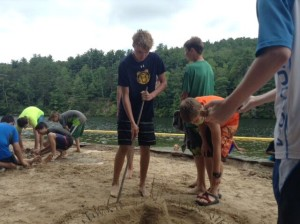 Cherokee Creek Boys Boarding School Field Day fun at the beach