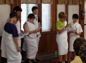 Boys Boarding School students read Julius Caesar